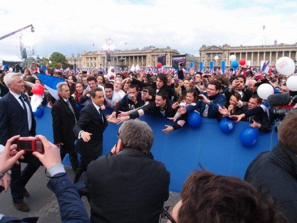 Grand rassemblement de la France Forte, Place de la Concorde Avec Nicolas Sarkozy