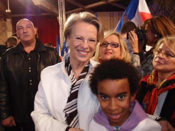 Michéle Alliot-Marie  ancienne des Ministre Rencontre William Ombagho