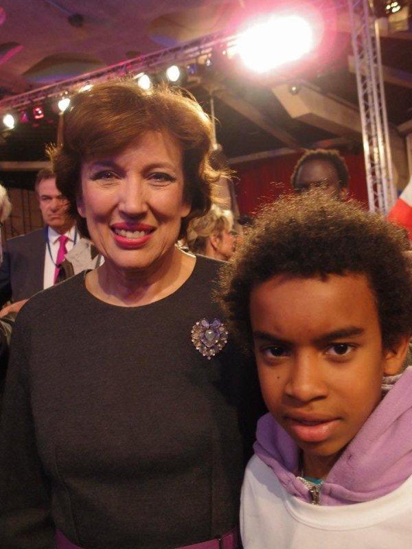 William Ombagho Rencontre Rosalyne Bachelot-Narquin Ministre des Solidaritès et de la Cohésion sociale Bachelore