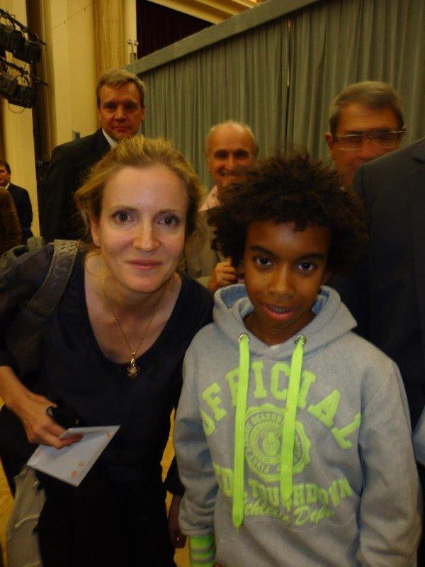 Nathalie Kosciusko-Morizet Candidat président UMP,le Maire Longjumeau et Député Essonne rencontre William Ombagho ...