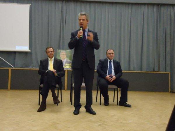 Réunion Publique Législatives Partielles 2012 1 éme Tour avec Henri Plagnol