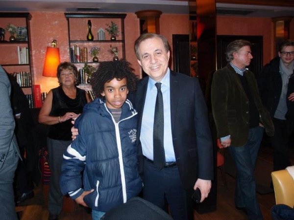 William Ombagho & Kenny Ombagho Rencontre KAROUTCHI Roger. Sénateur des Hauts-de-Seine (Ile-de-France)