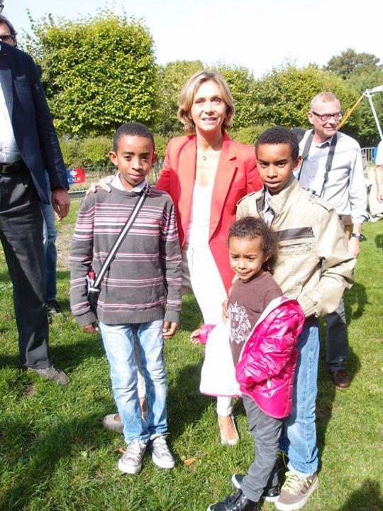"Valérie Pécresse rencontre William Ombagho, Kenny Ombagho et Hillary Ombagho "" Pique-Nique Francillien de rentrée """
