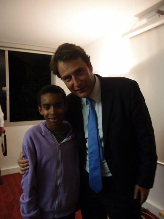"""William Ombagho rencontre Sylvain Berrios """" Municipale 2014 avec Sylvain Berrios député Val de Marne , 12 rue Machefer à Saint-Maur """""""