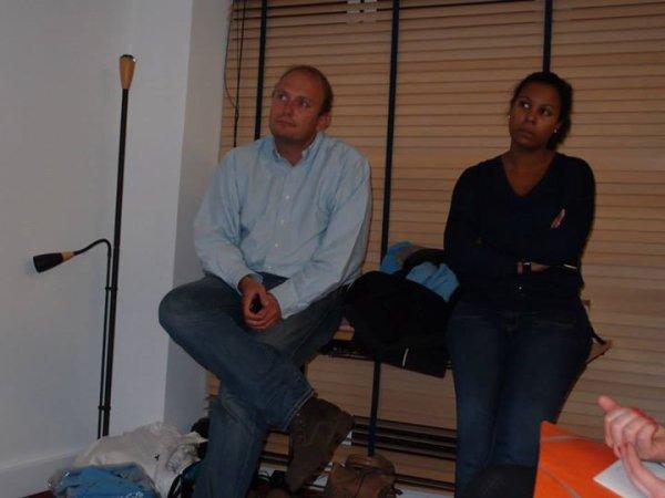 Jean-François Le Helloco &   Jasmine Camara  Réunion Municipale 2014 avec Sylvain Berrios, 12 rue Machefer à Saint-Maur ( prés de la gare du RER Saint-Maur Créteil )