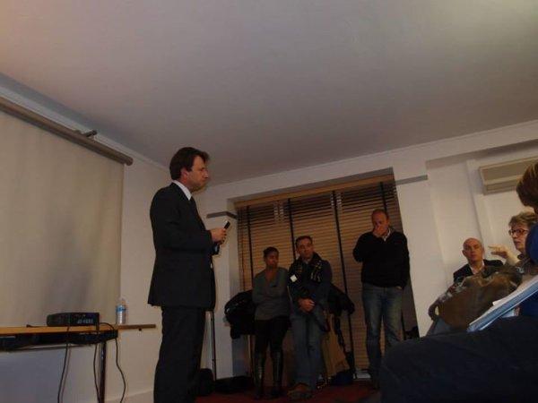 """Sylvain Berrios Candidat  Municipale 2014, il est député du Val de Marne ..... Réunion des militants de UMP & divers de droite avec sylvain Berrios """" SAINT-MAUR NOTRE CHOIX """""""