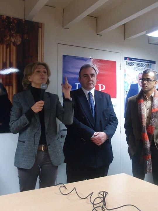 Valérie Pecresse à Créteil le 1er Décembre 2013 en soutien à Thierry Hebbrecht candidat  aux élections municipales  Mars 2014