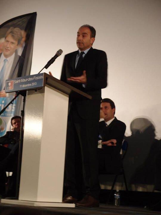 Réunion Publique  avec Jean-François  COPE Maire-député , Président de l' UMP de soutien à Sylvain Berrios candidat  éléctions Municipales de 2014