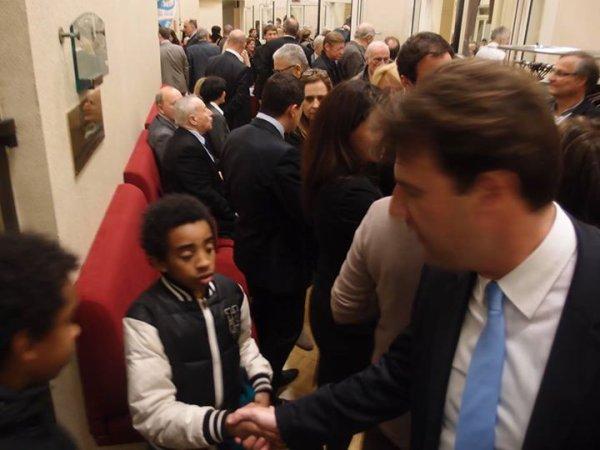 """William Ombagho & Kenny Ombagho serre la main à Sylvain Berrios Député du Val de Marne, Candidat Maire de Saint -Maur 2014 """"Soirée de présentation de la liste Saint-Maur,Notre Choix """""""