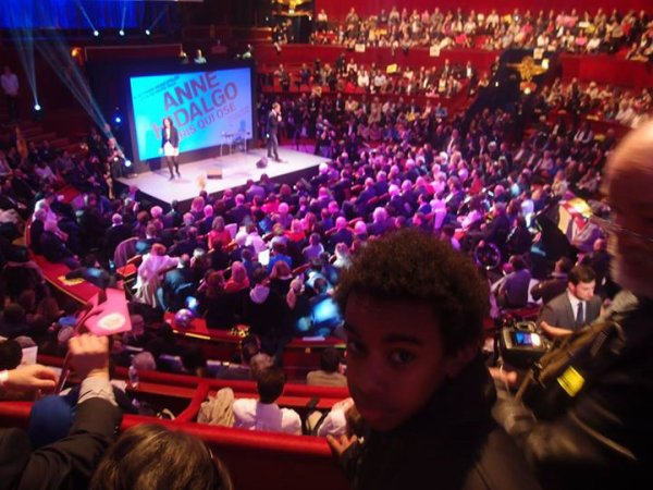"""William Ombagho, Jeune militant de 15 ans """"Anne Hidalgo Meeting au Cirque d' Hiver 2014 """""""