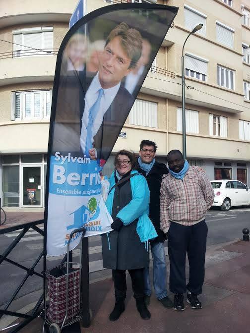 ( Mon père ) Georges Ombagho militant action des compagnes avec tous équipe de Sylvain Berrios députe Val de Marne -Maire de Saint-Maur 2014