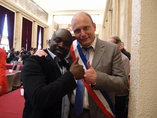 """Jean-françois Le Helloco Maire-Adjoint  rencontre Georges Ombagho """" Conseil d' installation à Hotel de Ville de Saint-Maur-des-Fossés ( Val de Marne ) """""""