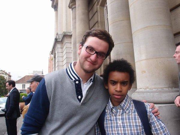 """Laurence Bouchet Coulon Maire-Adjoint rencontre William Ombagho,Jeune militant de 15 ans """" Conseil d' installation à Hotel de Ville de Saint-Maur-des-Fossés ( Val de Marne ) """""""