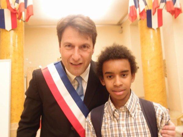 """Sylvain Berrios Député-Maire de Saint-Maur-des-Fosses rencontre William Ombagho,Jeune de militant de 15 ans"""" Conseil d' installation à Hotel de Ville de Saint-Maur-des-Fossés ( Val de Marne ) """""""