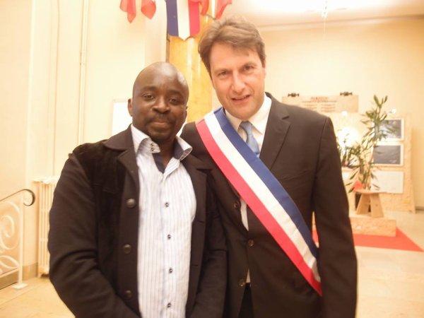 """SylvainBerrios Député-Maire de Saint-Maur-des-Fosses rencontre Georges Ombagho """" Conseil d' installation à Hotel de Ville de Saint-Maur-des-Fossés ( Val de Marne ) """""""