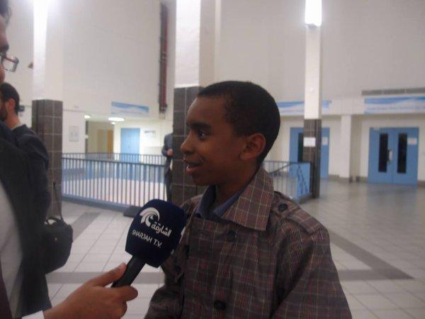 William Ombagho,16 ans de l' étudiant économie social et  Littérature et société interview Arabic