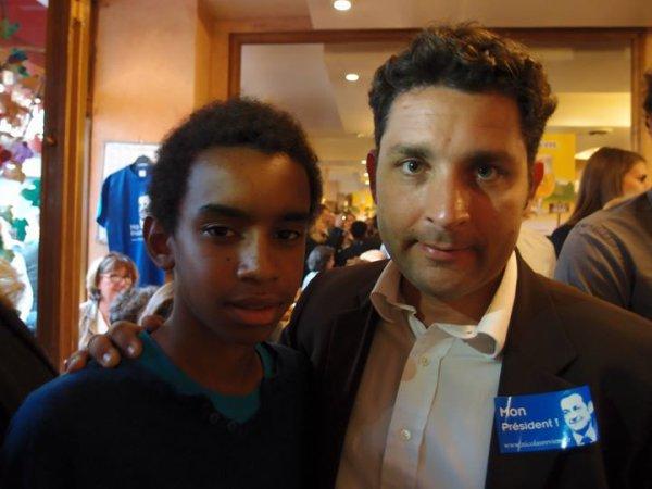 """frédéric Bouscarle rencontre William Ombagho """" Réunion de soutien à la candidature de Nicolas Sarkozy """""""