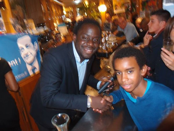 """Stephane TIKI rencontre William Ombagho """" réunion de soutien à la candidature de Nicolas Sarkozy"""""""