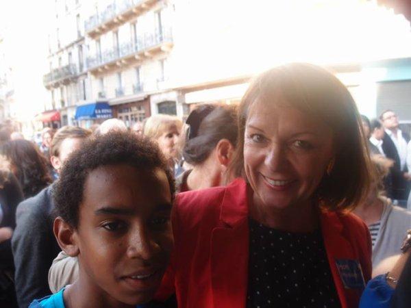 """Brigitte Kuster le Maire 17 e de Paris rencontre William Ombagho """" réunion de soutien à la candidature de Nicolas Sarkozy"""""""