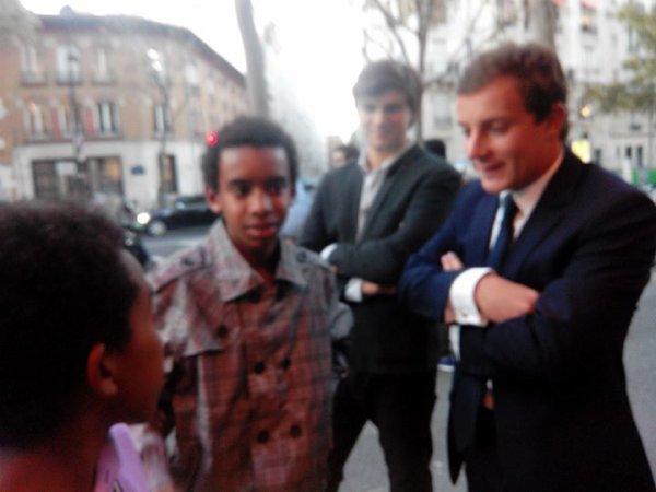 """William Ombagho,jeune militant de 16 ans & kenny ombagho """" Café de la politique Rachida Dati, ancienne ministre de la justice,le maire 7e de Paris et Député Européen """""""