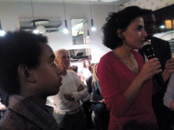 """William Ombagho,jeune militant de 16 ans au côté de Rachida Dati """" Café de la politique avec Rachida Dati, ancienne ministre de la justice,le maire 7e de Paris et Député Européen """""""
