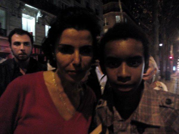 Rachida Dati, ancienne ministre de la justice,le maire 7e de Paris et Député Européen rencontre William Ombagho jeune militant de 16 ans