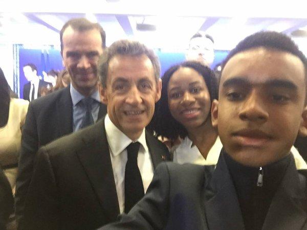 L'ancien président de la République  Nicolas Sarkozy  Président des Républicains.William Ombagho , J'ai 17 ans et je suis jeune pour l'engagement alternance nouveau adhérents 2016