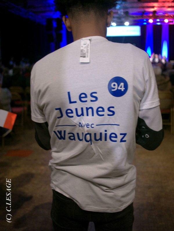 Laurent Wauquiez, candidat président des Républicains, Député de Haute-Loire - Président de la Région Auvergne Rhône-Alpes rencontre des jeunes Wauquiez avec William Ombagho,Etudiant supérieur communication, jeune militant de 19 ans