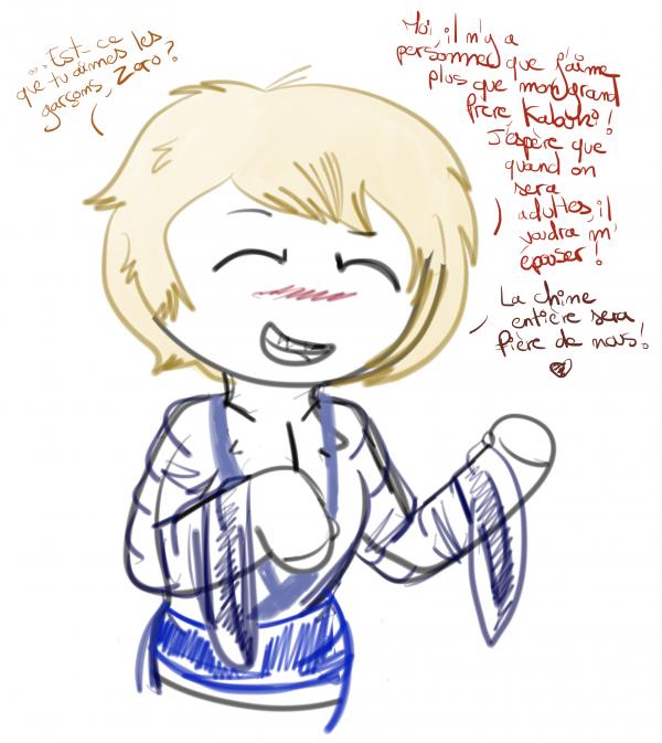 Quand Minyô demande à une expérience qui ressent rien si elle aime les mecs.. ( Oui, je m'éclate grave, j'en ai fait des tonnes des comme ça ! )