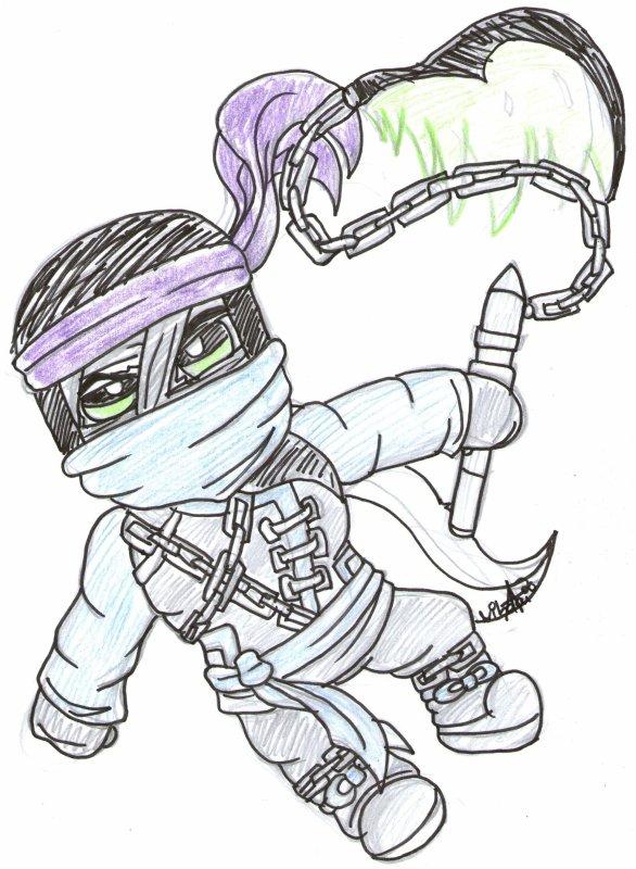 IT IS FIGHT OR FLIGHT ! Oui oui Wrayth qui est un des fantômes de Morro en 7ème Ninja,vous ne rêvez pas..