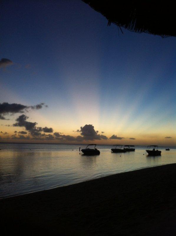 Coucher de soleil sur l'île Maurice
