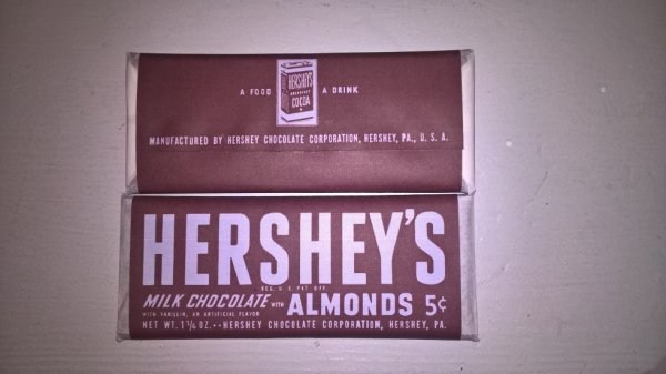 hershey's bar milk ALMONDS