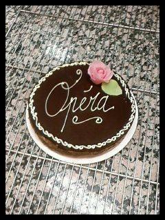 Opera Biscuit Joconde Ponche Au Cafe Creme Au Beurre Cafe