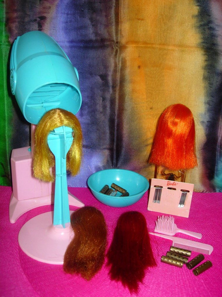 "BARBIE VINTAGE COLOR MAGIC : 1965 ""COLOR'N CURL SET"""