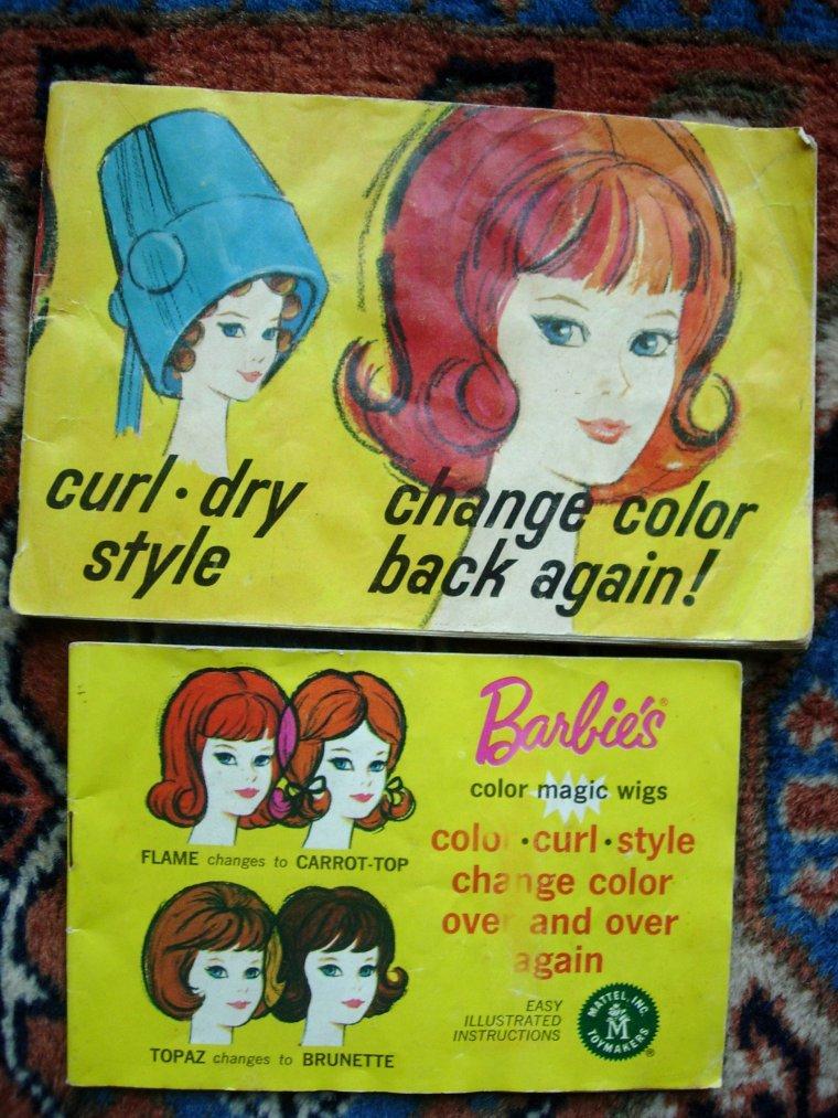 """BARBIE VINTAGE COLOR MAGIC : 1965 """"COLOR'N CURL SET"""""""