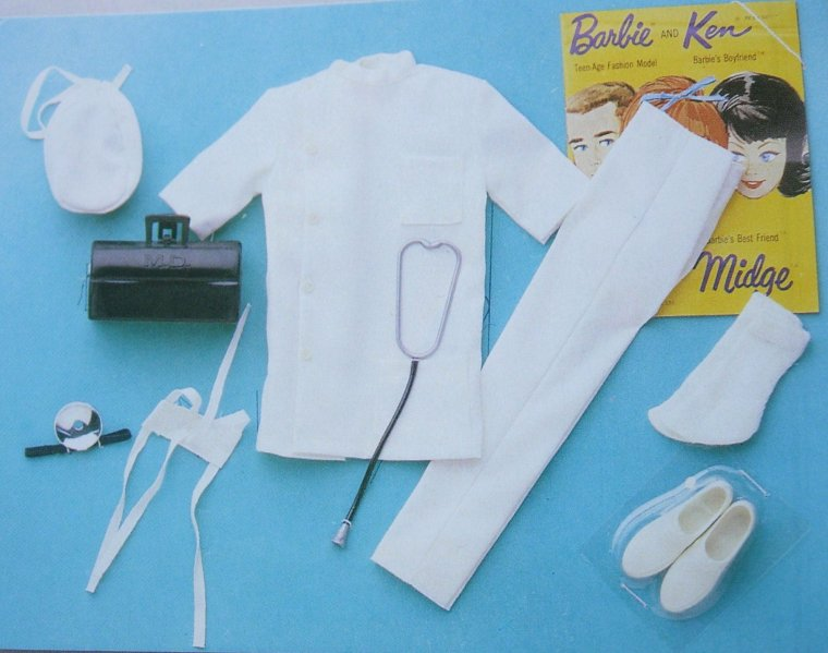 BARBIE VINTAGE NURSE - Dr KEN - CANDY STIPER VOLONTEER ...