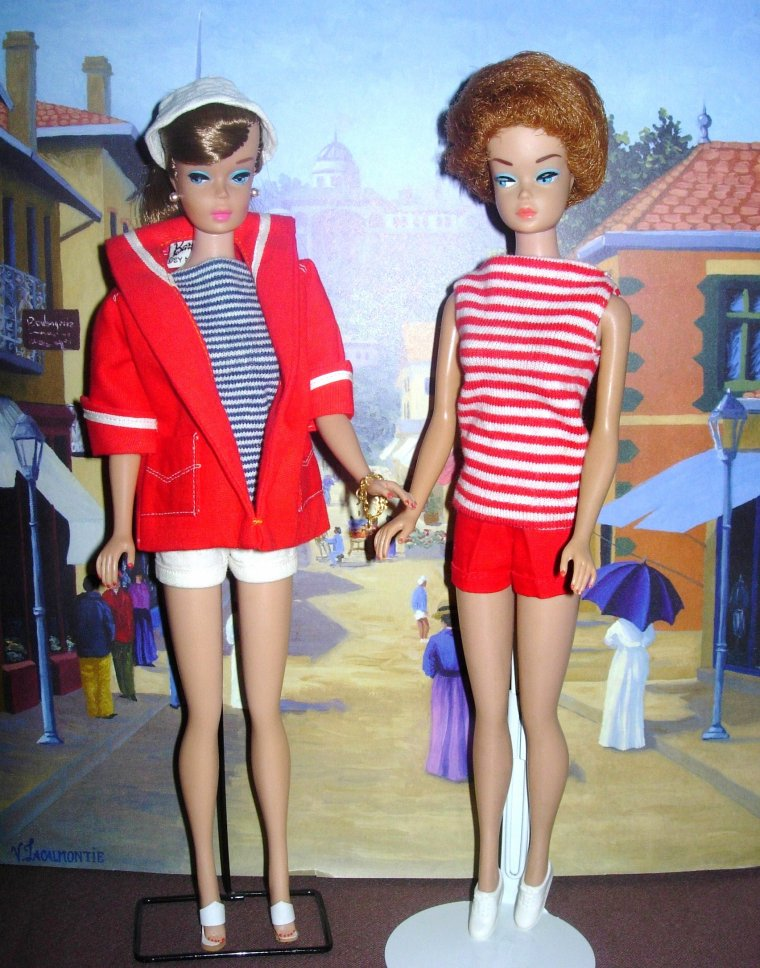 """VINTAGE BARBIE Swirl & Fashion Queen """"TEE-SHIRT AND SHORT"""" ..."""