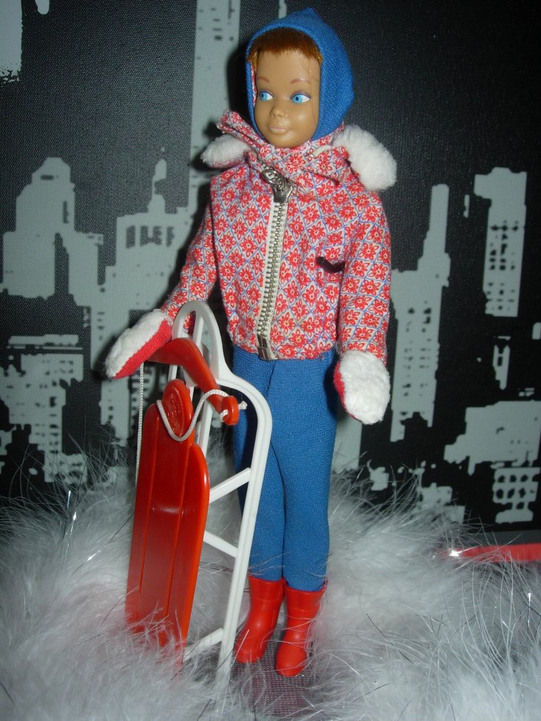 "BARBIE VINTAGE SKIPPER ""Sledding Fun"" ..."