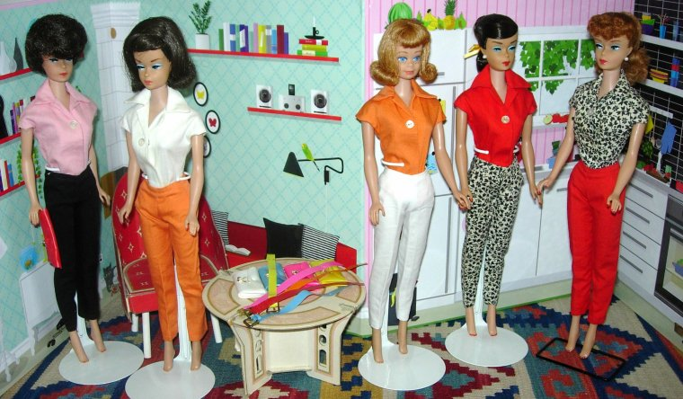 BARBIE VINTAGE PACKS : SHEATH - BLOUSE - SLACKS - PURSE ...