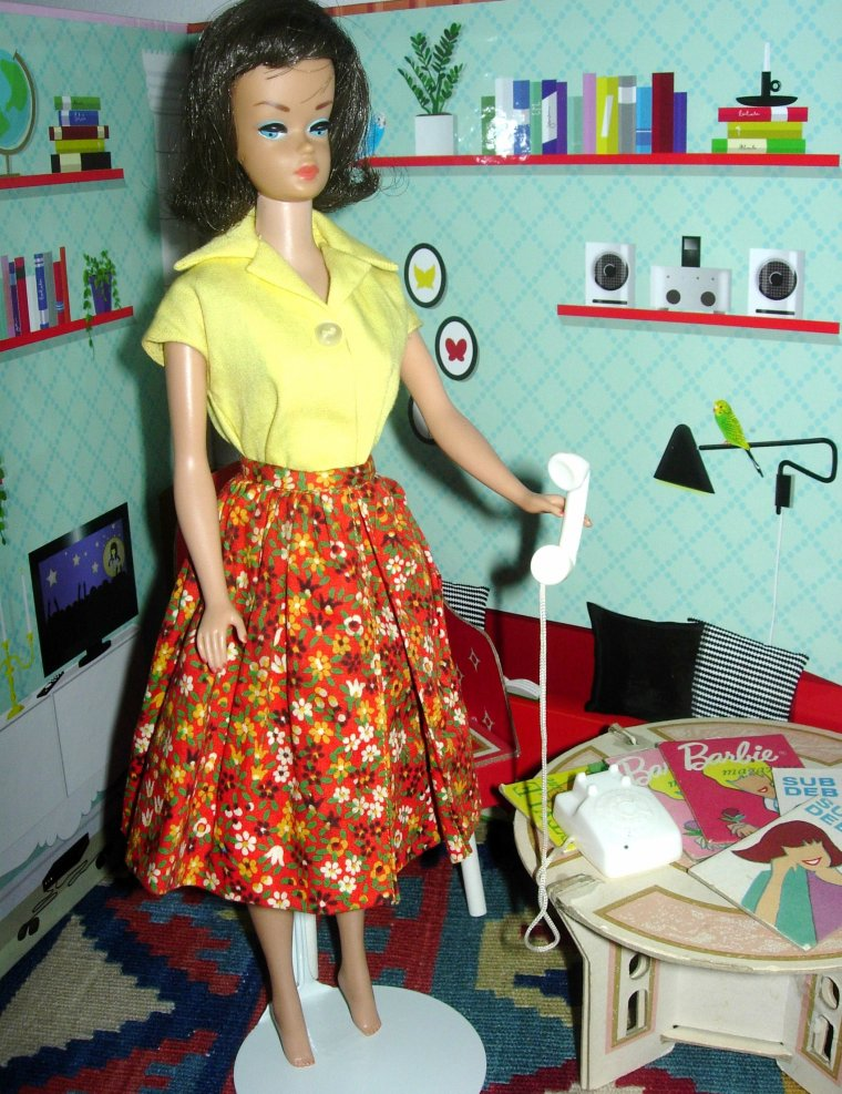 BARBIE VINTAGE : SCOOP NECK PLAISUIT et GATHERED SKIRT ...