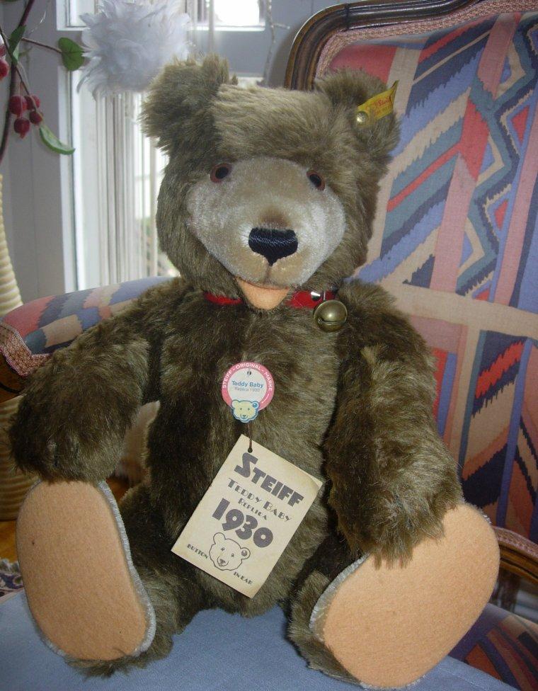 """PELUCHE - OURS - TEDDY BEAR """"STEIFF"""" - REPLICA 1930 ..."""