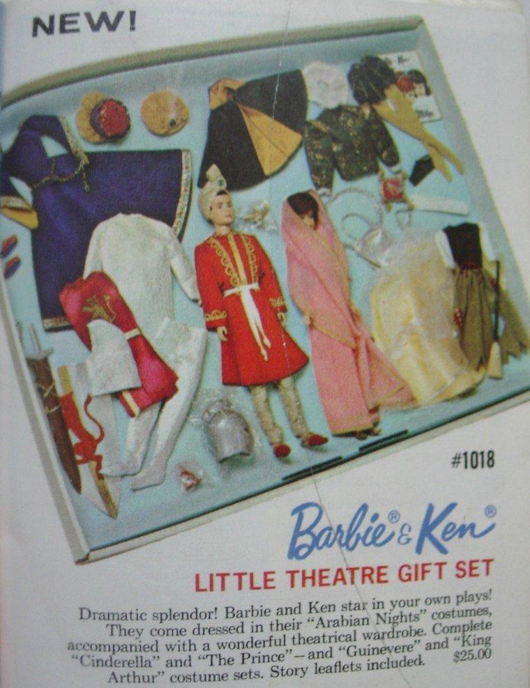 """BARBIE BUBBLE CUT & KEN VINTAGE """"LITTLE THEATRE"""""""