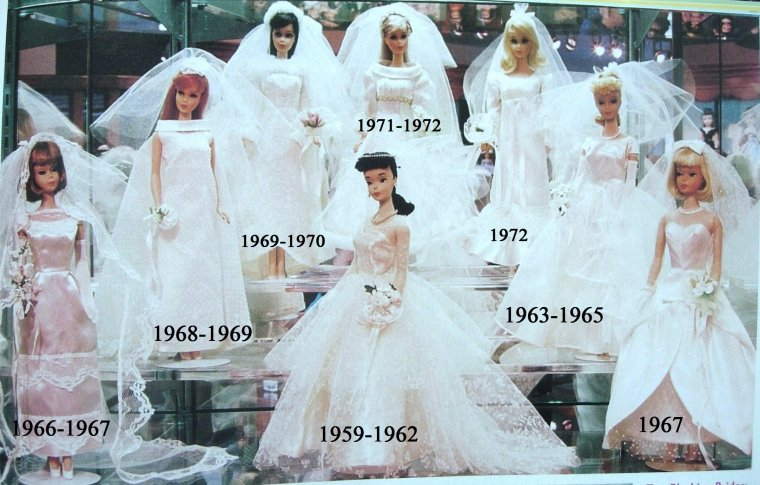 BARBIE VINTAGE WEDDING DRESSES ...