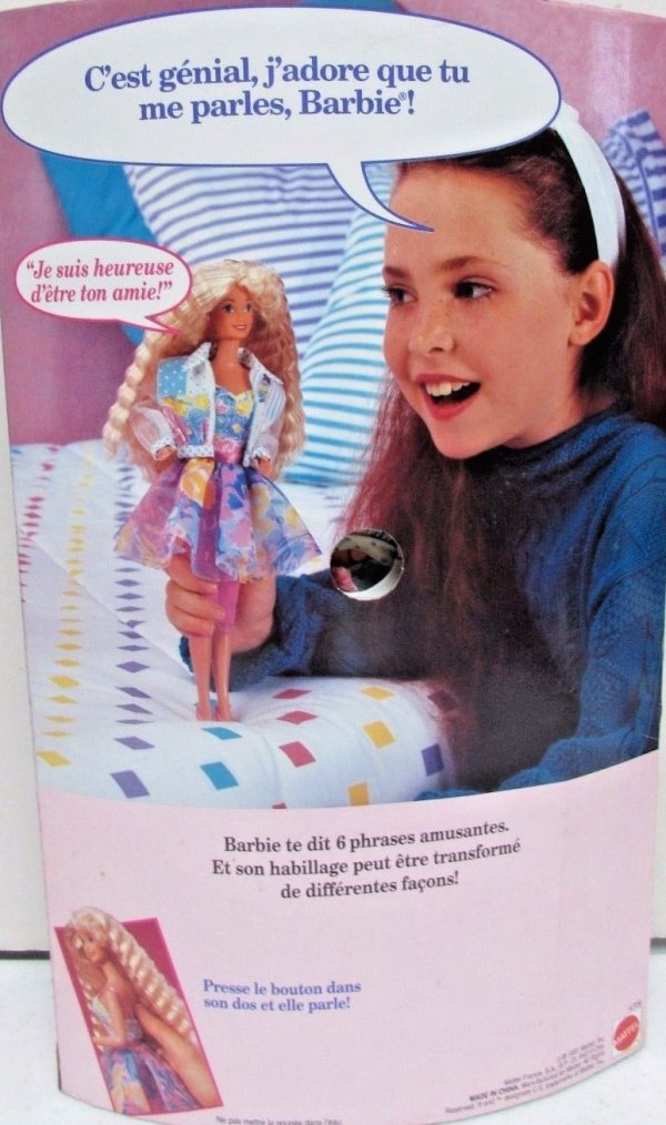 """BARBIE """"TE PARLE"""" - BARBIE """"TEEN TALK"""" - 1992"""