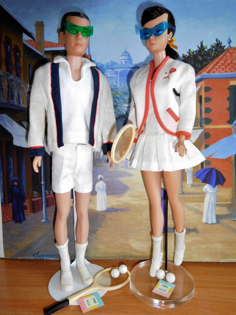 BARBIE & KEN VINTAGE : TIME FOR TENNIS et TENNIS ANYONE ?