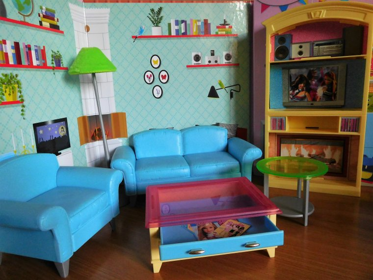 "SALON BARBIE ""LIVING ROOM PLAYSET"" 2002/2004 ..."