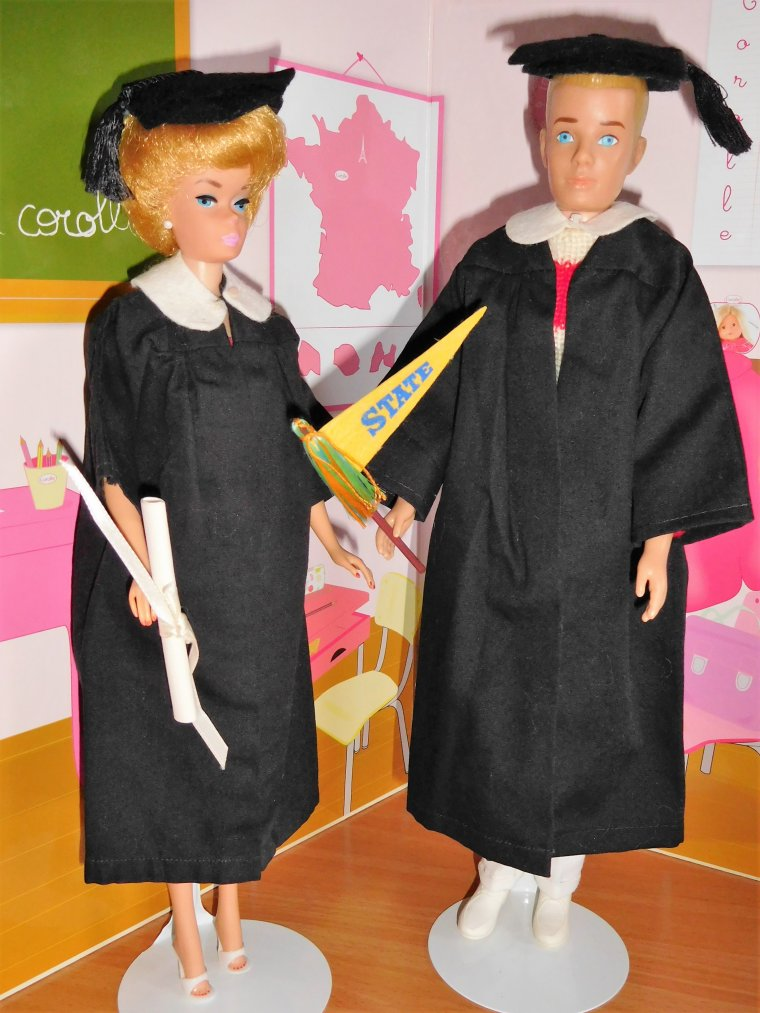"BARBIE et KEN VINTAGE ""GRADUATION"" - 1963/1964 ..."