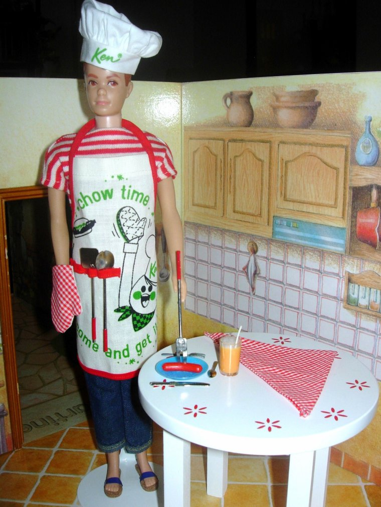 "POUPEE ALLAN ANCIEN - KEN VINTAGE DOLL - ""Cheerfull Chef"" ..."