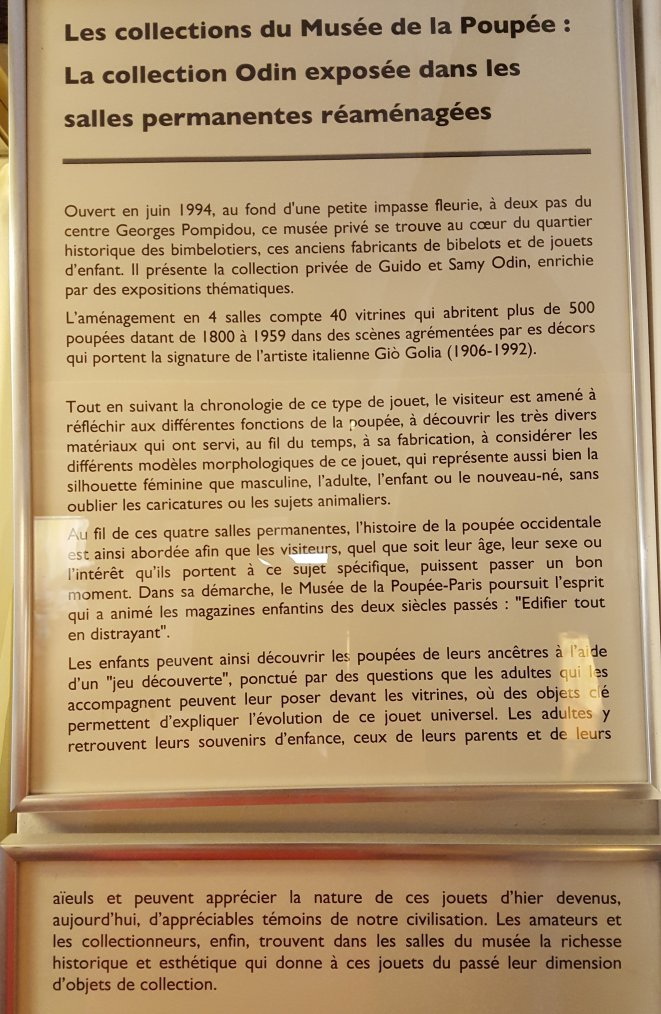 MUSEE DE LA POUPEE PARIS - Seconde Partie (1)