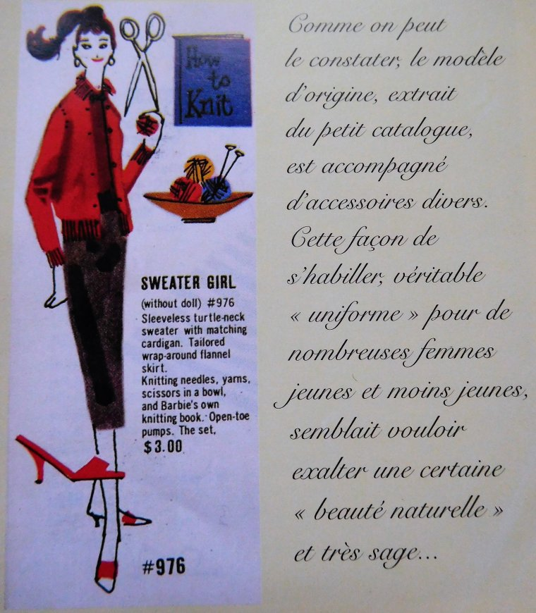 "BARBIE VINTAGE ""SWEATER GIRL"" - 1959"